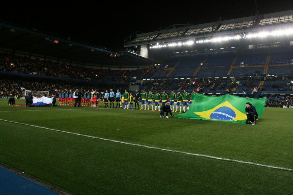 Фотографии с товарищеского матча Россия - Бразилия